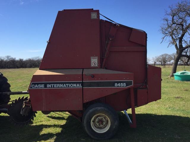 Round hay baler in Bryson, Jack County, Texas - Jackson